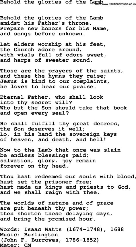 Pdf In The Of The Beheld by Holy Week Hymns Song Behold The Glories Of The
