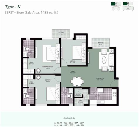 floor plan for 2 bedroom apartment in india