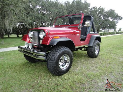 cj jeep lifted 1979 jeep cj 5 florida beauty lifted 327 corvette engine