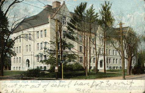 newton high school newtonville ma postcard