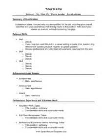 sle resume for returning to work resume for returning to work sle 34 images resume exle