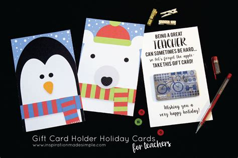 Gift Cards With Names On Them - teacher gift card holder holiday cards inspiration made simple