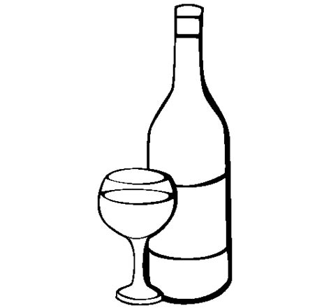 wine coloring page