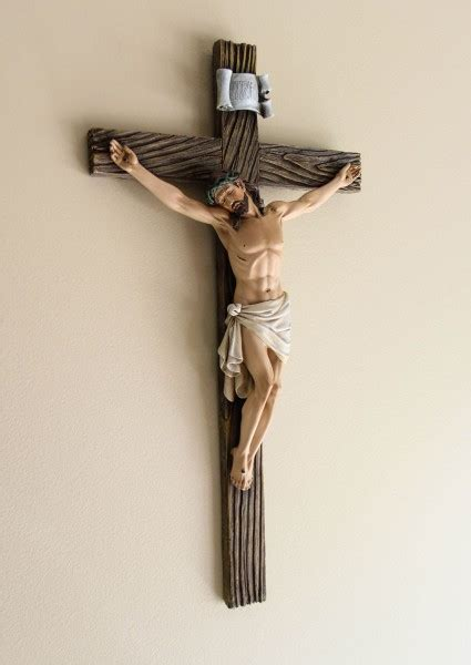 resin wall crucifix 20 3 4 quot