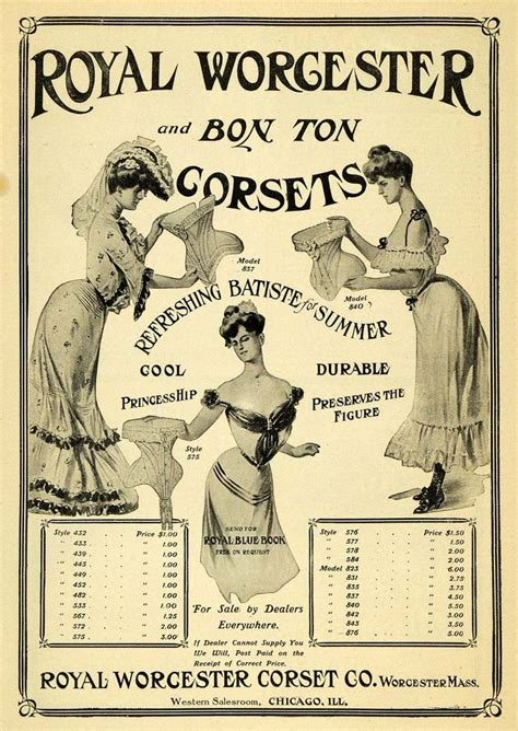 1903 ad royal worcester bon ton corset