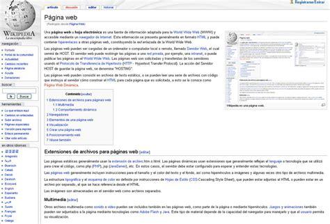 imagenes de una web p 225 gina web wikipedia la enciclopedia libre