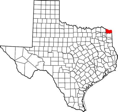 bowie county texas map file map of texas highlighting bowie county svg wikimedia commons