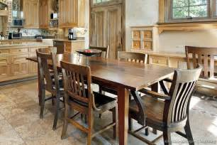 kitchen table design rustic kitchen designs pictures and inspiration