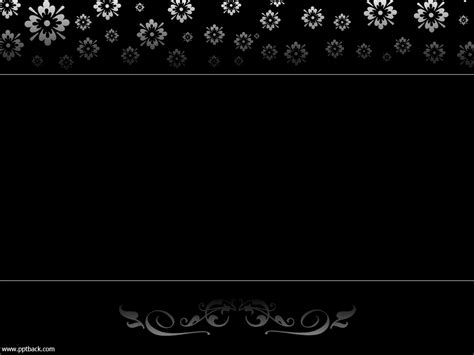 Related Pictures Dark Background Corner Flowers Powerpoint Backgrounds Flowers In Nanopics Black Powerpoint Template