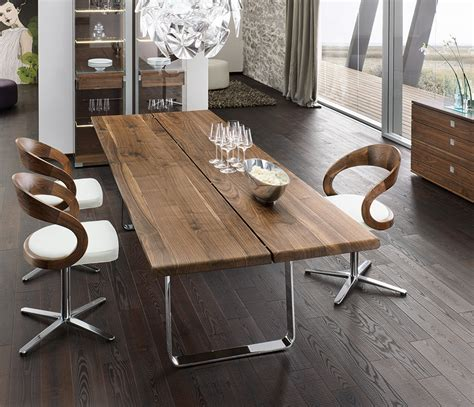 Luxury natural dining table team7 nox wharfside dining furniture