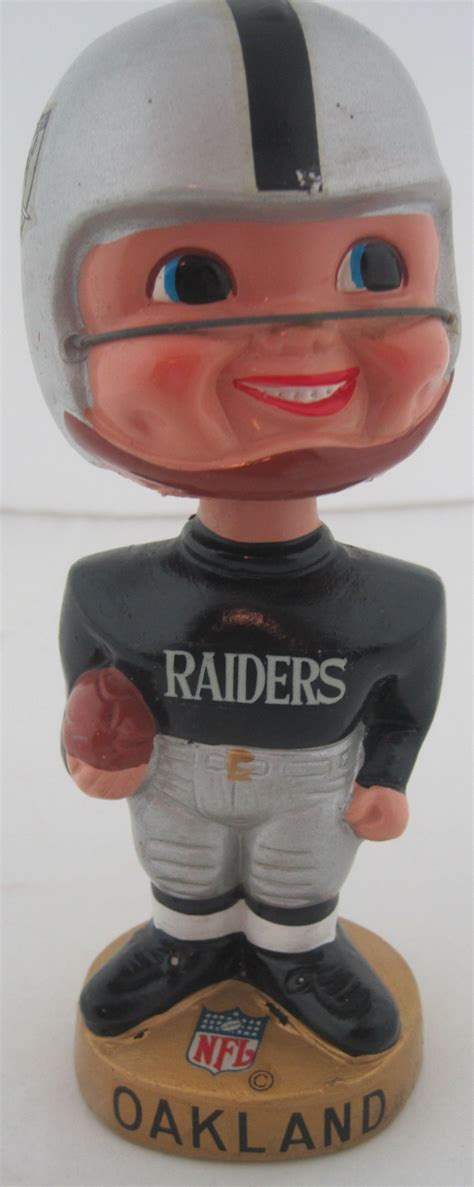 bobblehead 1960 s lot detail oakland raiders vintage 1960 s afl bobblehead