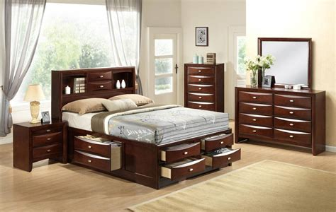 bedroom sets with storage drawers high class quality designer bedroom set with extra storage
