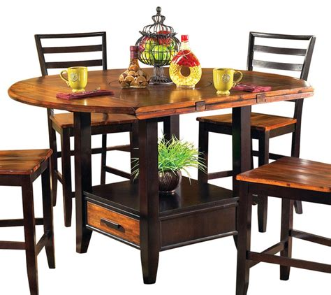 drop leaf bistro table steve silver abaco drop leaf counter height table