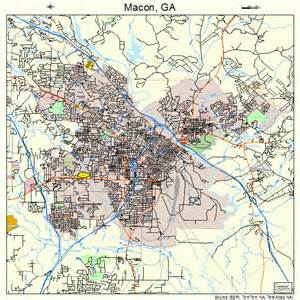 map of macon macon map 1349000