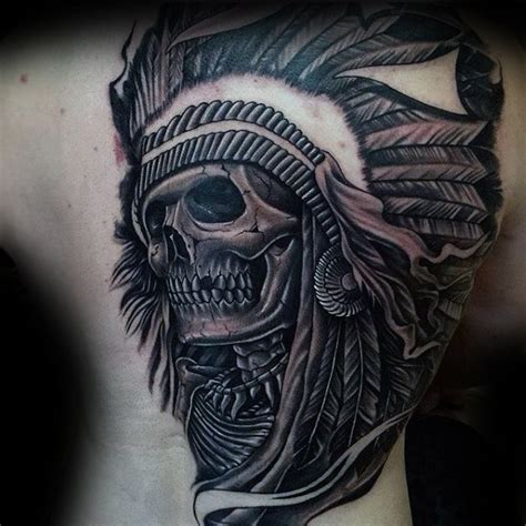 indian chief tattoo 80 indian skull designs for cool ink ideas
