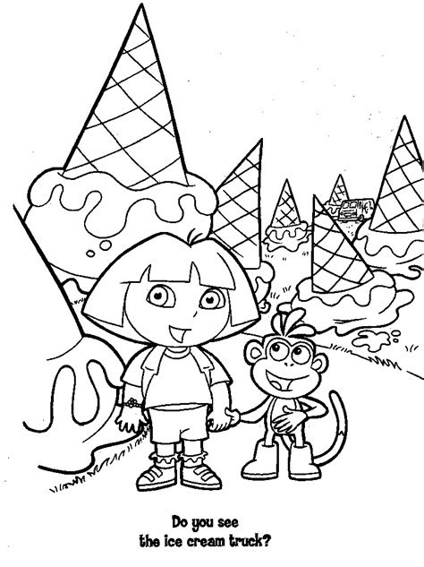 big dora coloring pages dora s free coloring pages
