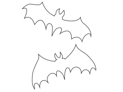 free bat template printable and free templates