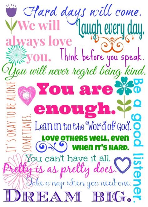 printable quotes about daughters 14 things i want my 14 year old daughter to know part 2