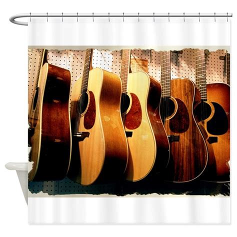 guitar curtains guitars shower curtain by mugglefunds