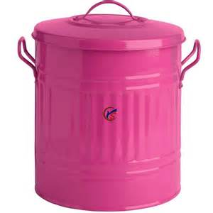 Small Metal Trash Cans With Lids Pink 15 L Galvanized Small Metal Garbage Cans Buy