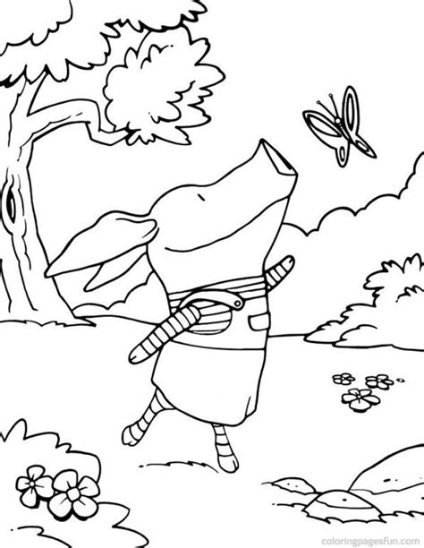 Olivia Pig Coloring Page | olivia pig coloring pages az coloring pages