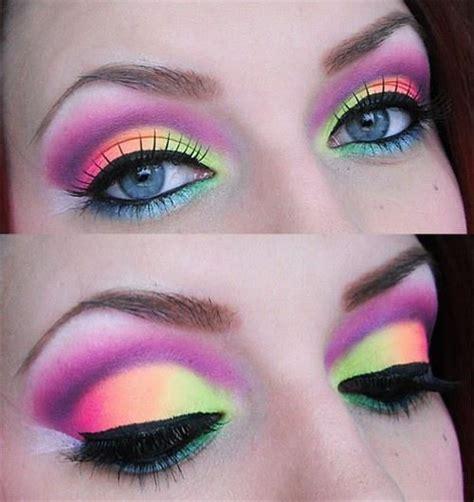 Makeup Ran neon makeup for electric run summer festival