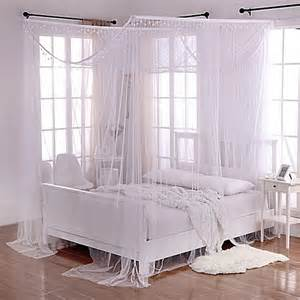 Bed Bath And Beyond Canopy Netting Buy Sheer 4 Poster Bed Canopy In White From Bed