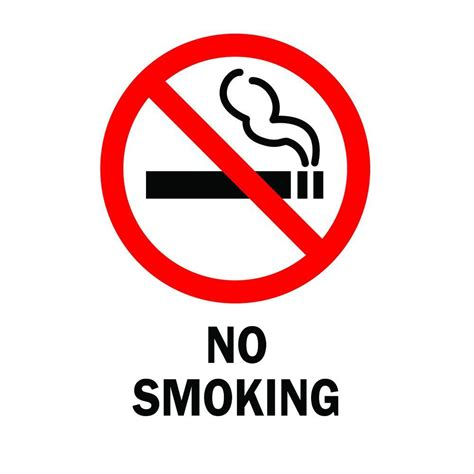 no smoking sign picture brady 14 in x 10 in plastic no smoking safety sign 25120