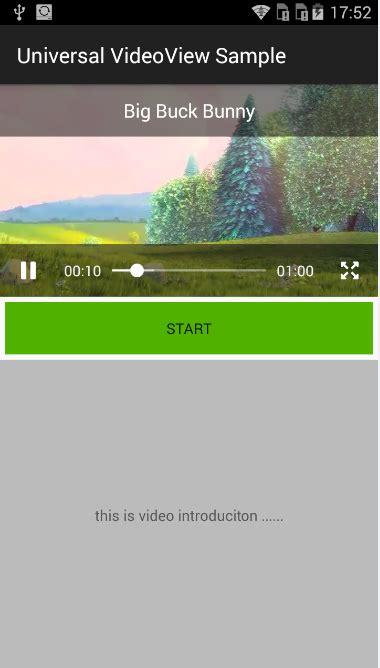 videoview layout width universalvideoview android 上定义播放器控件 支持自定义控制 ui 全屏播放 重力感应