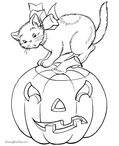 coloring pages of a black cat for halloween free printable halloween cat coloring pages 007