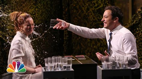 Barkin Throws A Glass Of Water In The Of Ex Husband 2 by Water War With Lindsay Lohan