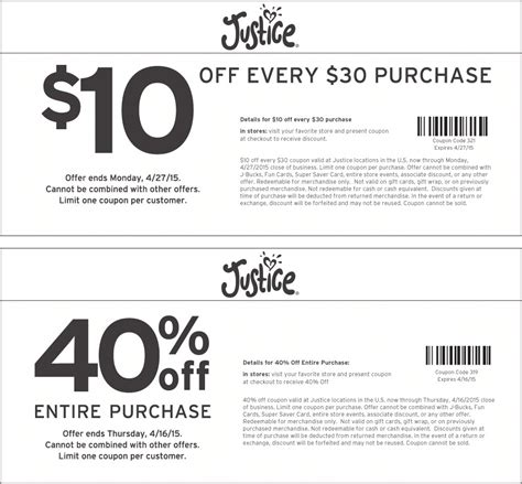printable justice coupons october 2015 image gallery justice coupons 2015