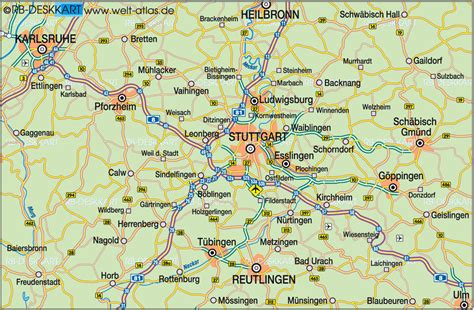 stuttgart on map map stuttgart area images