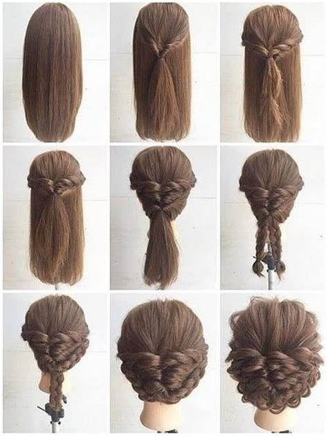 hyorin put on long hair 25 best ideas about easy updo on pinterest easy chignon