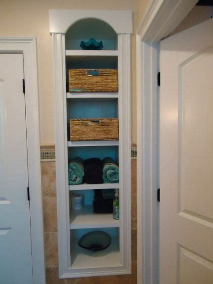 built ins between wall studs bathroom and shower ideas
