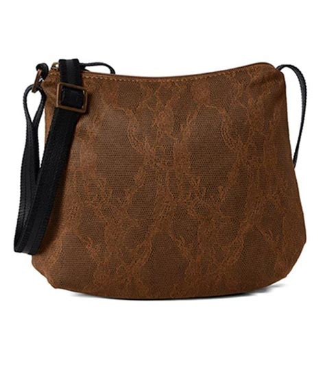 Sling Bag M U buy baggit brown p u sling bag at best prices in india