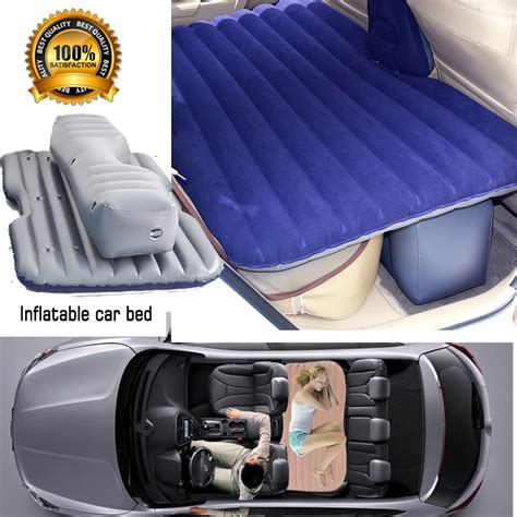 how to go to bed fast fast shipping new flocking inflatable car bed car grey
