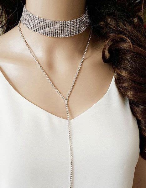 Rhinestone Drop Choker 25 best ideas about rhinestone choker on