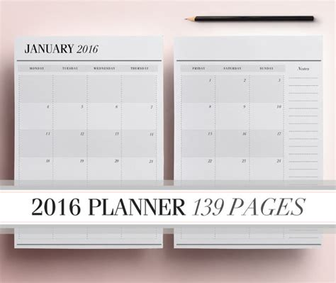 free printable daily planner pages 2016 6 best images of 2016 calendar printable daily planner