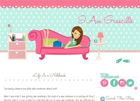 graecille personal woman blog design ipietoon cute blog