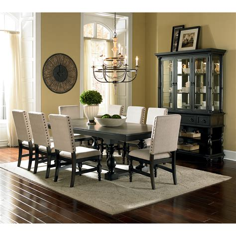 dining room table set steve silver leona 9 dining table set dining table