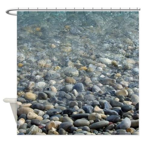 pebble shower curtain river pebbles shower curtain by inspirationzstore