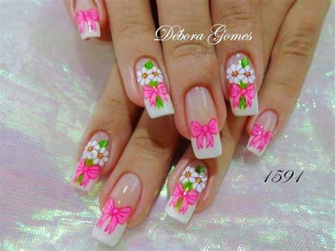 imagenes de uñas acrilicas con flores las 25 mejores ideas sobre u 241 as decoradas con flores en