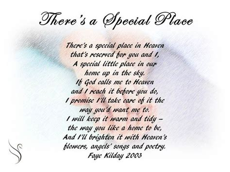 A Place Poem 14 Best Images About Funeral Poems For Partner On Gardens Dads And S Day