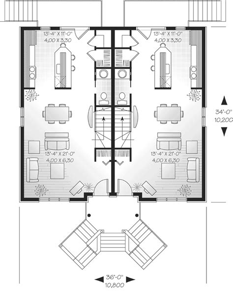 mountlake terrace triplex home plan 032d 0060 house plans