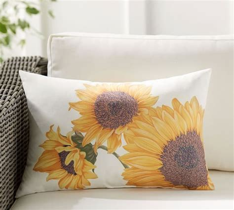 Sunflower Rug Pottery Barn by Botanical Sunflower Indoor Outdoor Lumbar Pillow Pottery