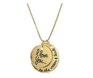 Kaos Unisex Abstrak i you to the moon and back necklace on sale 61