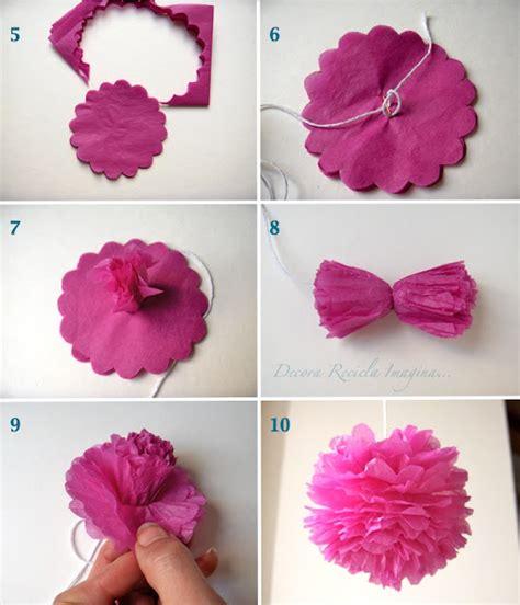 flores en papel seda paso a paso flores o pompones con papel de seda manualidades para ni 241 os