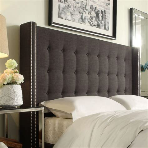 gray king headboard homesullivan franklin park dark grey king headboard