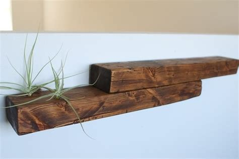 custom reclaimed wood shelf air plant shelf wood air